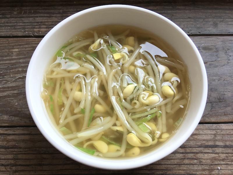 豆もやしスープのレシピ