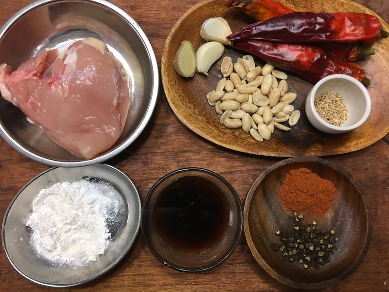 辣子鶏(ラーズージー)材料
