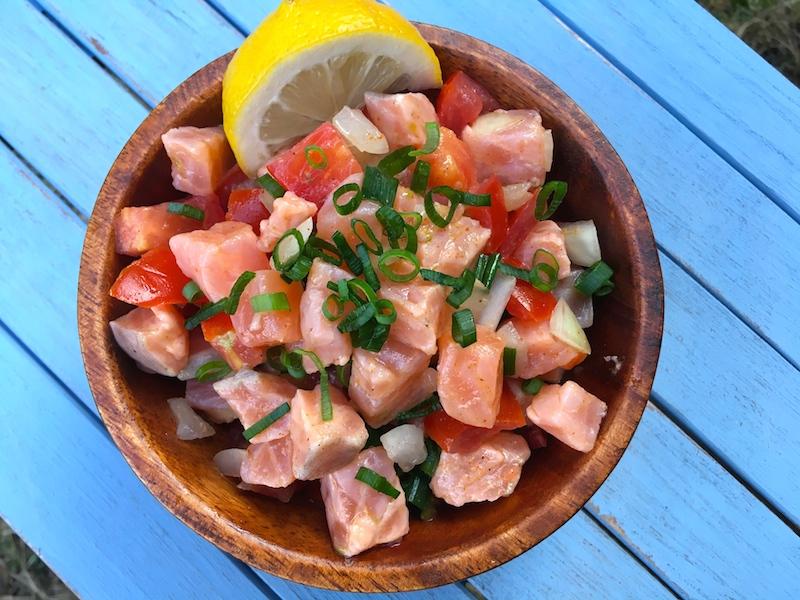 【ハワイ料理】ロミロミサーモンのレシピ