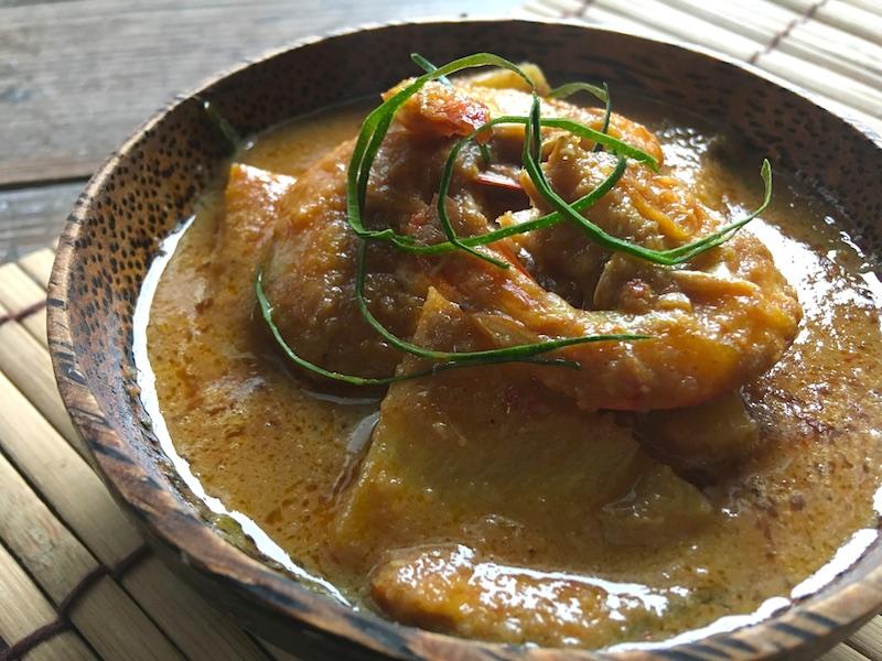 マレーシア風パイナップルと海老のカレー【ウダンナナス】レシピ