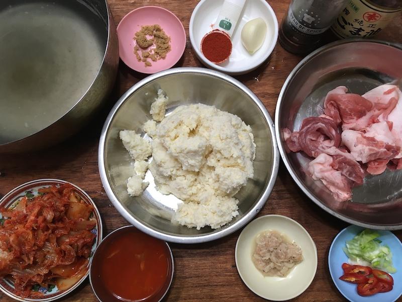 おから鍋の材料
