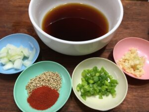 チヂミのタレ材料