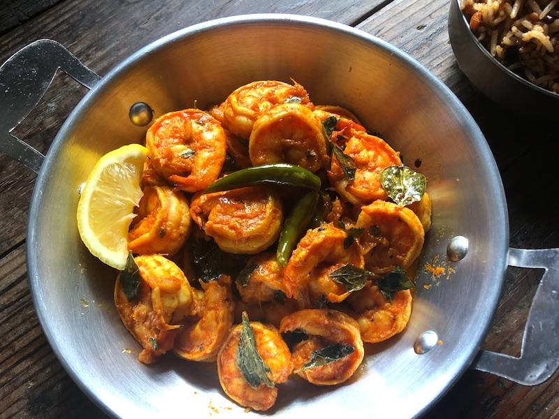 南インド風プローンフライのレシピ
