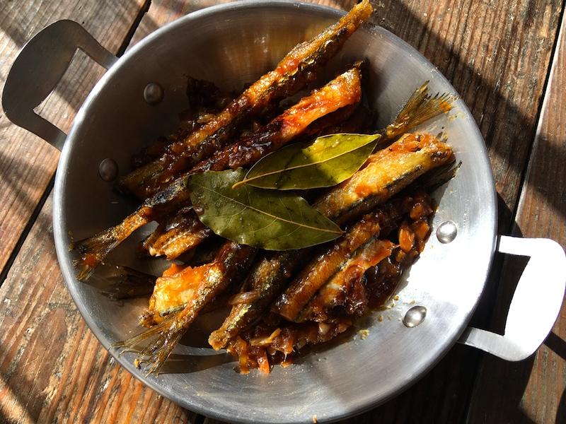 フィリピン風サヨリの揚げ煮