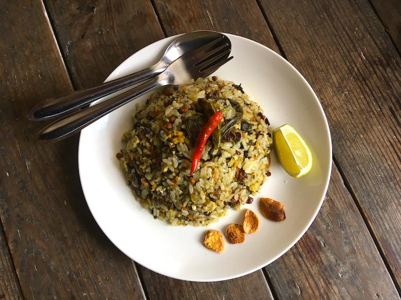 ミャンマー茶葉飯のレシピ