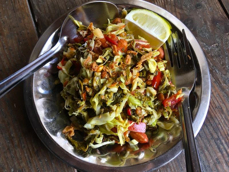 ミャンマーのお茶の葉サラダ レシピ