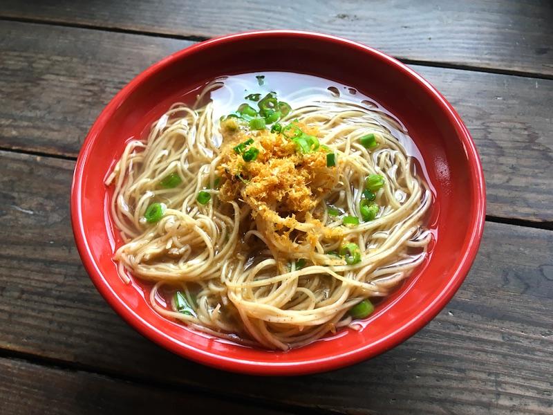 蝦子麺の汁そばレシピ