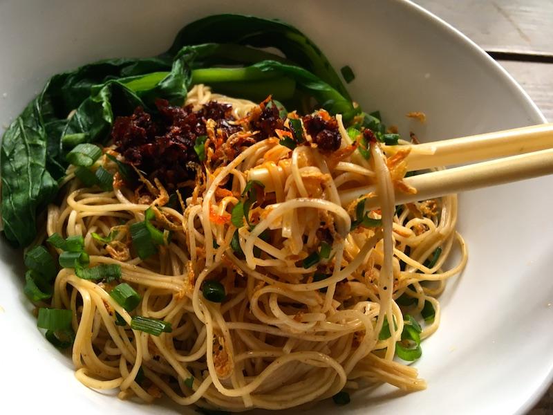 蝦子麺を使った簡単レシピ(焼きそば、汁そば、油そば)