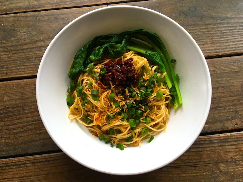 蝦子麺の油そばレシピ