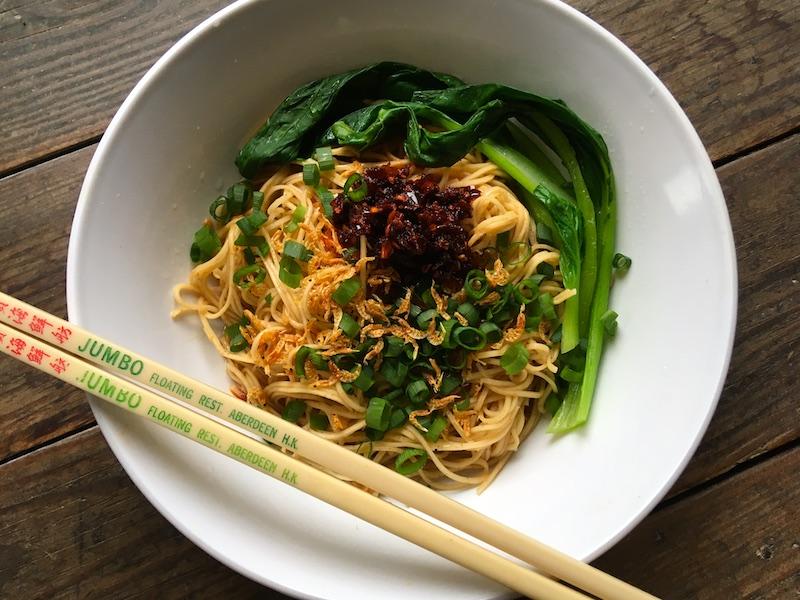 蝦子麺の油そば作り方