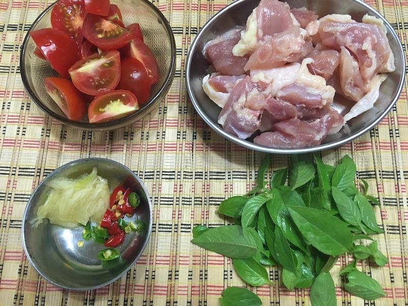 フィリピン風スープの材料