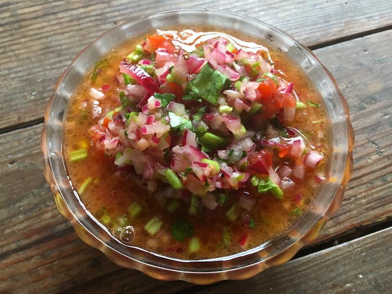 チリのサルサ「ペブレ」レシピ