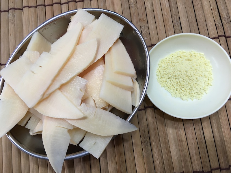 タアサイ&タケノコ炒めの材料
