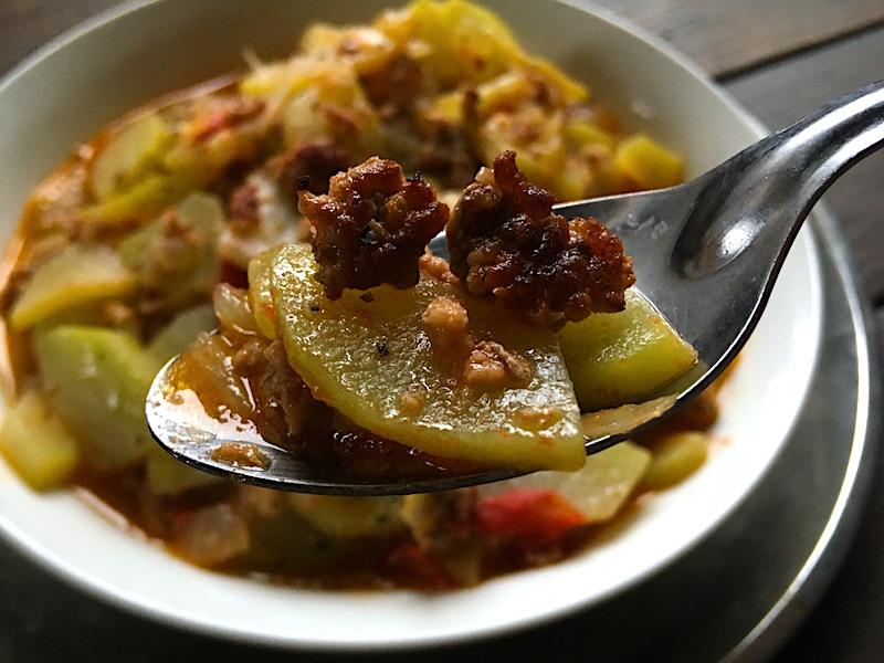 フィリピン風ハヤトウリのひき肉炒め【ギニサンサヨーテ】レシピ