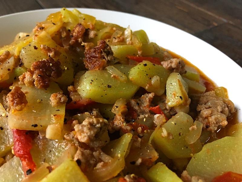 ハヤトウリのひき肉炒めレシピ