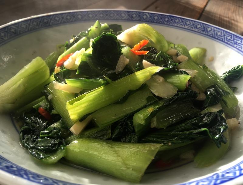 タアサイの中華炒めレシピ