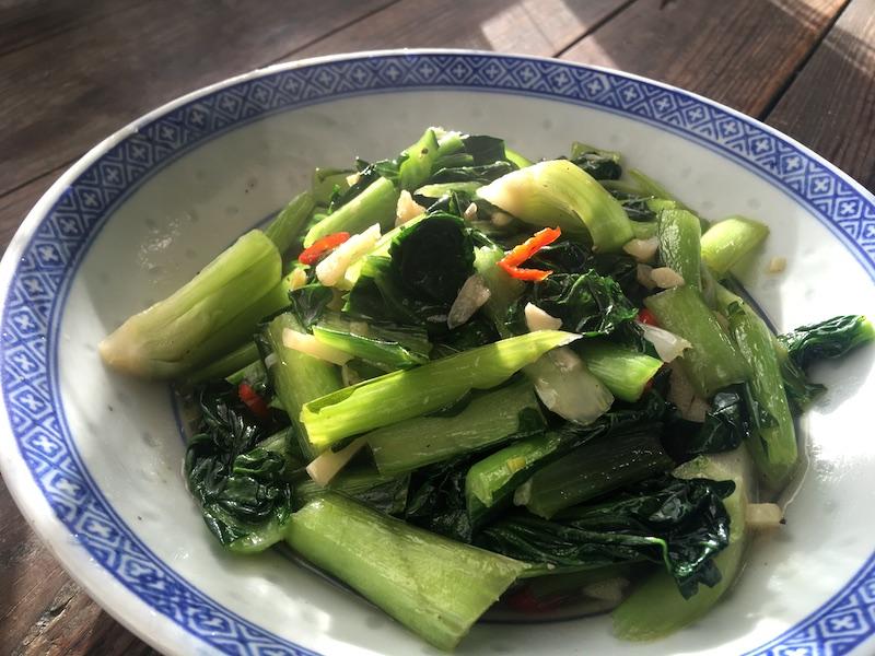 ターサイ炒め中華風レシピ