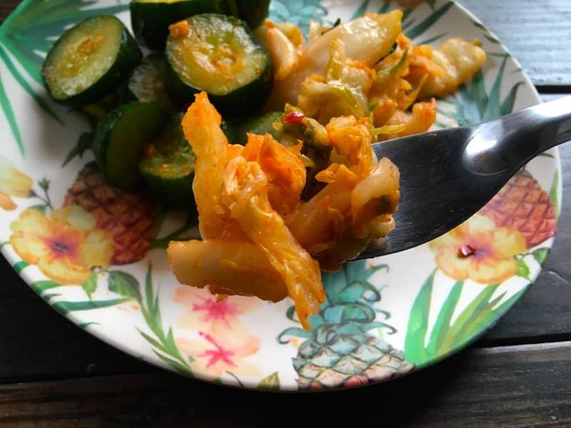 白菜キムチアップ