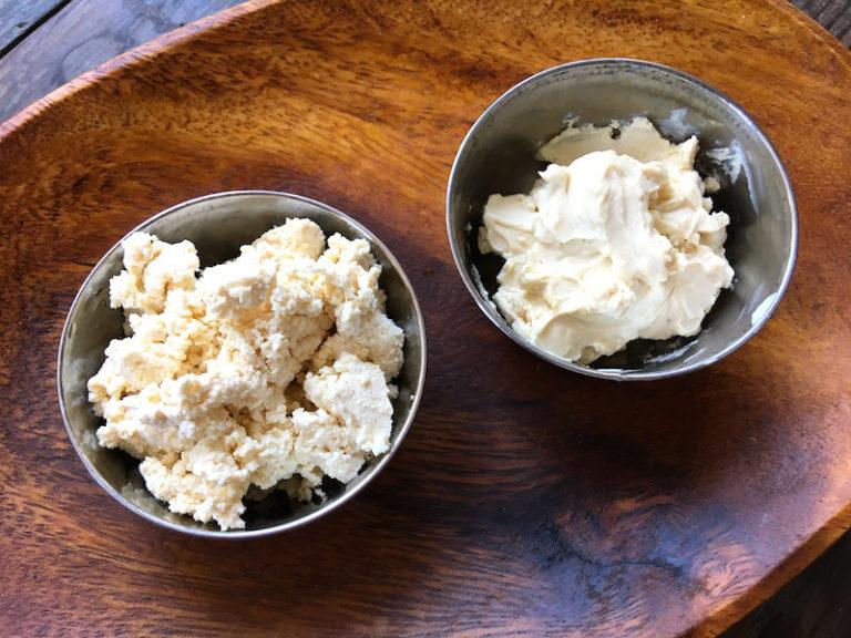 豆乳チーズのレシピ(カッテージチーズ風&クリームチーズ風)
