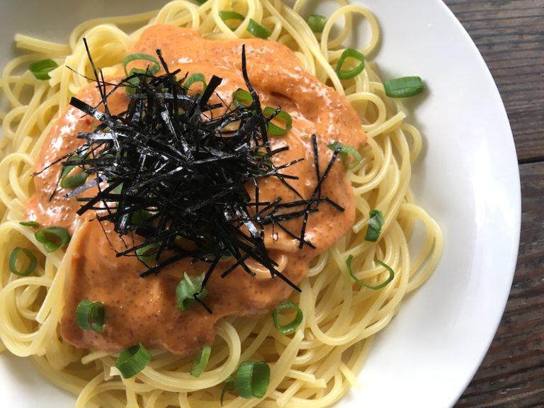 (アマランサス)明太子マヨネースズパゲッティのベジタリアンレシピ