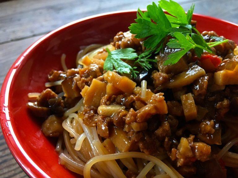 中華風あんかけビーフンのベジタリアンレシピ