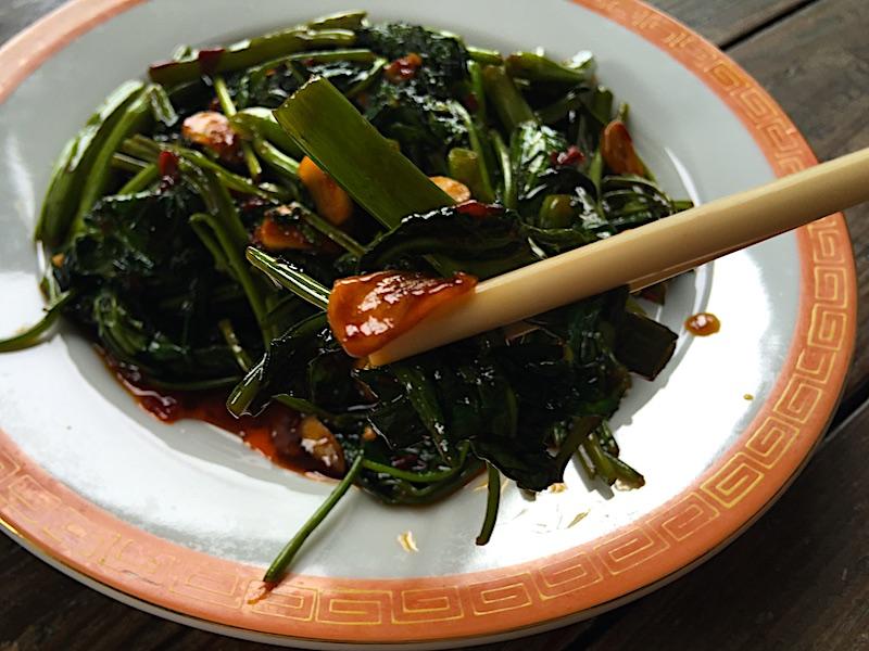 空芯菜炒めレシピ