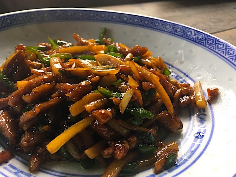青椒肉絲のベジタリアンレシピ
