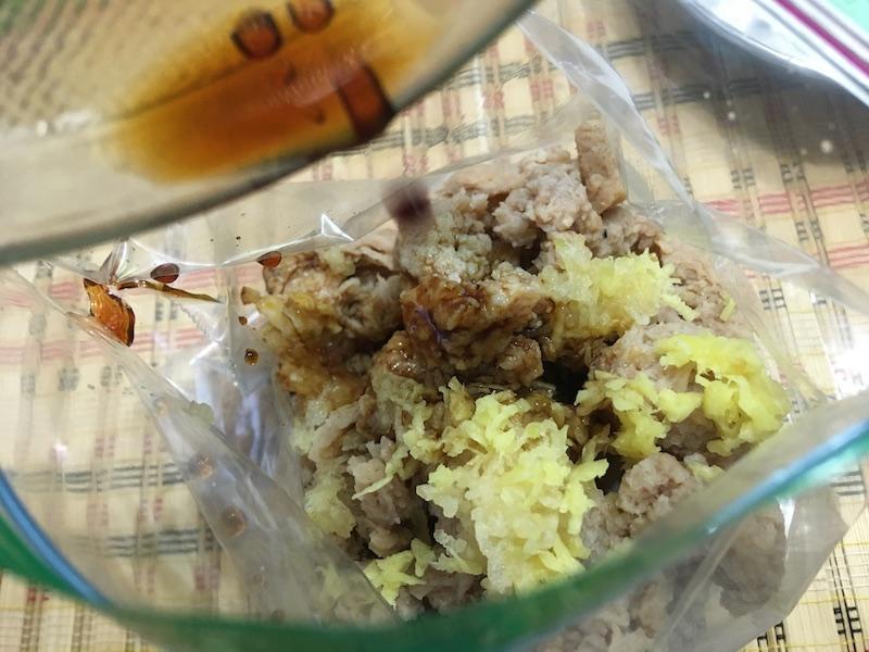 大豆ミートの下味