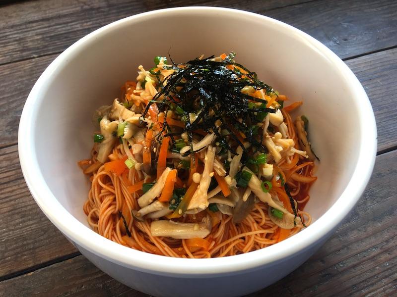 きのこビビン麺レシピ