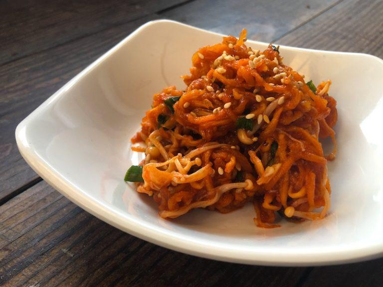 韓国風!切り干し大根とエノキの和え物レシピ
