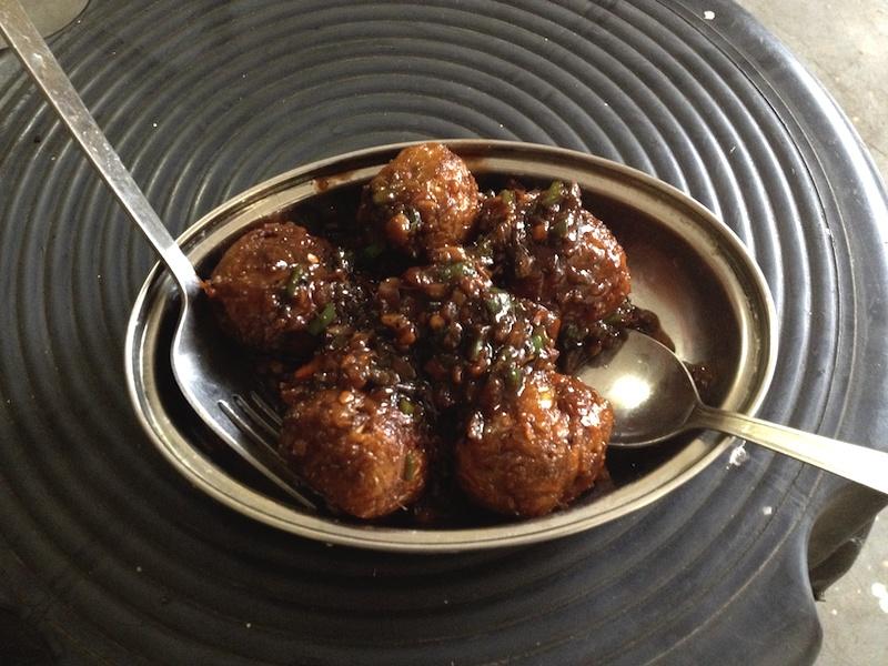 インドで食べたベジマンチュリアン