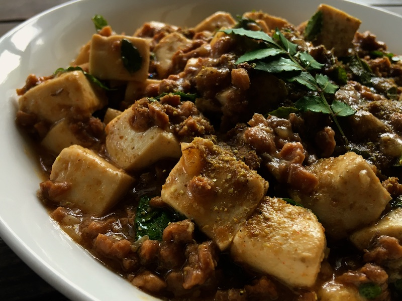 大豆ミート和風麻婆豆腐レシピ