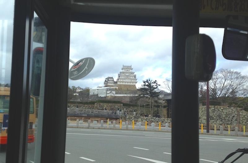 バスから姫路城