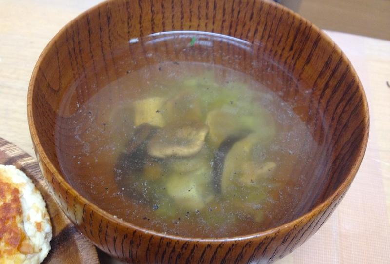 干しキノコスープ