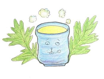 よもぎ茶イラスト