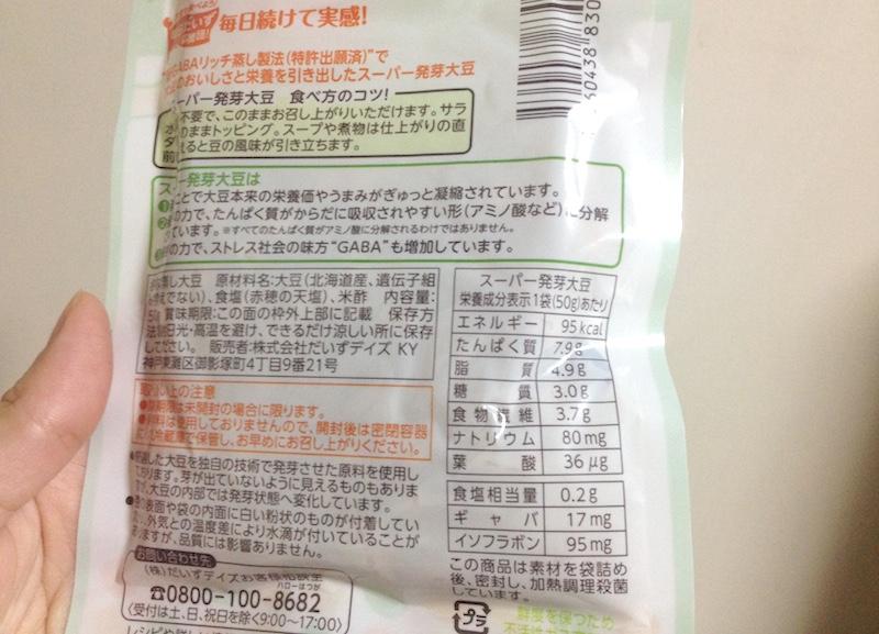 スーパー発芽大豆成分