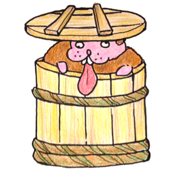 味噌樽にトド