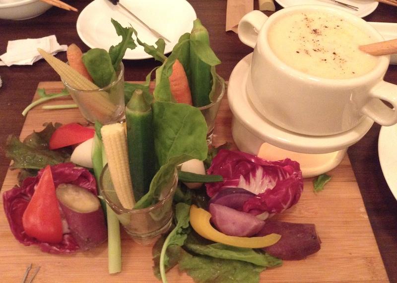 練馬野菜のチーズフォンデュ