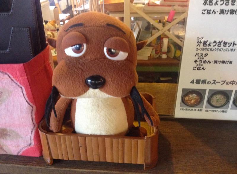 昭和レトロ商品博物館の看板犬?