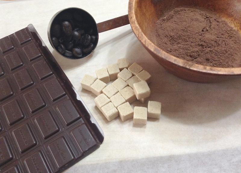 コーヒー豆チョコの材料