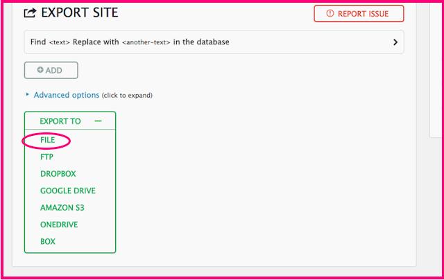 ブログデータをエクスポート