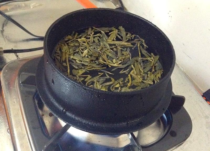 鉄鍋の錆び取り