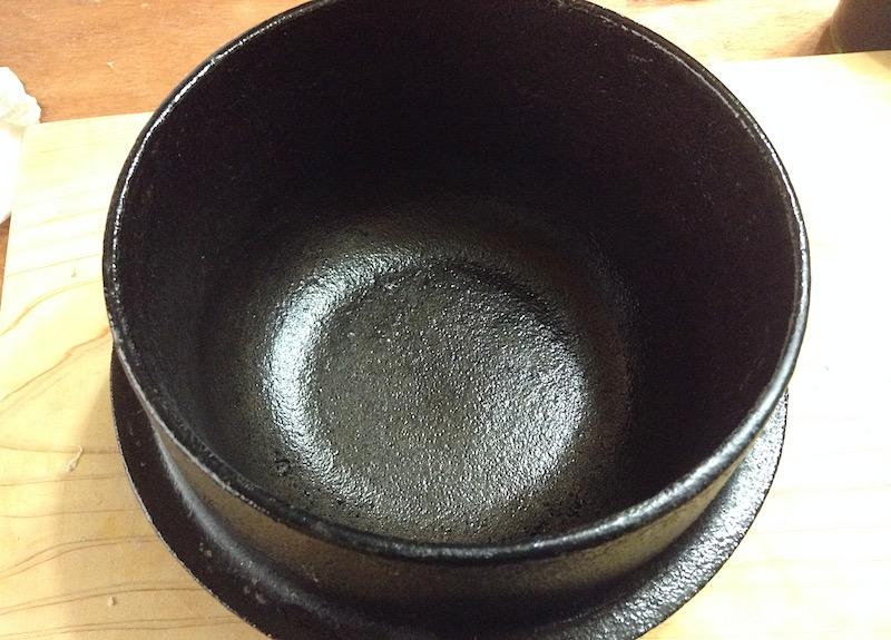 鉄鍋のさび落とし後