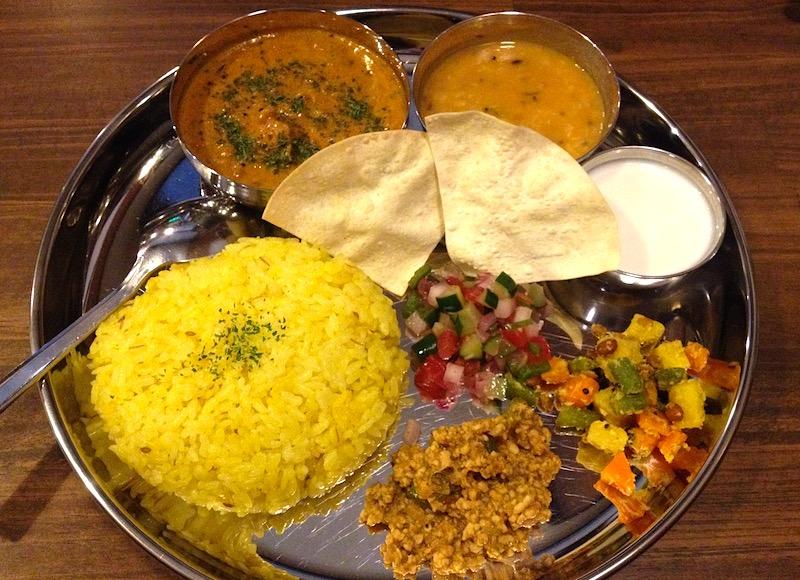 美味しいインドカレー定食