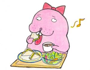 世羅町役場の前【四季コーヒー館】でモーニングセットを食べてきました