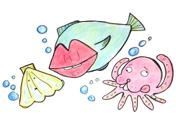 海の中のトドタコ