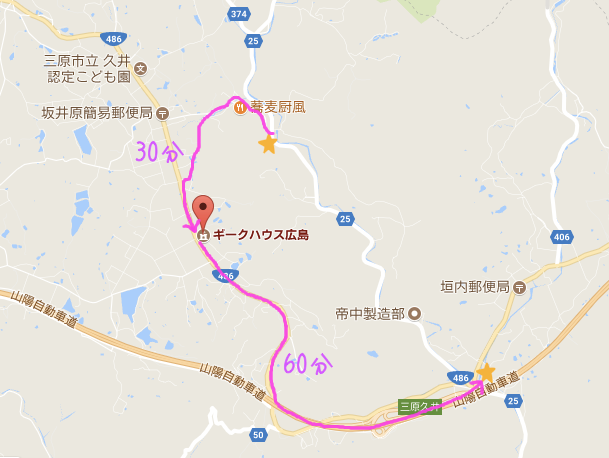 本日の散歩コース