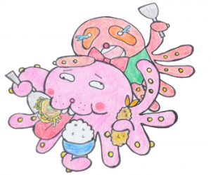 三原駅前【つぼみ】お好み焼きも定食もエビフライ定食もあるよ!