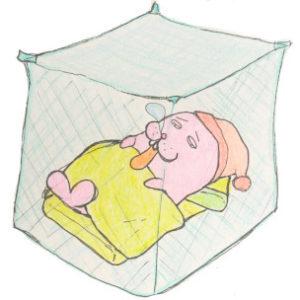 ムカデ対策には日本製の高い蚊帳!安物だと隙間からムカデが入ってくる