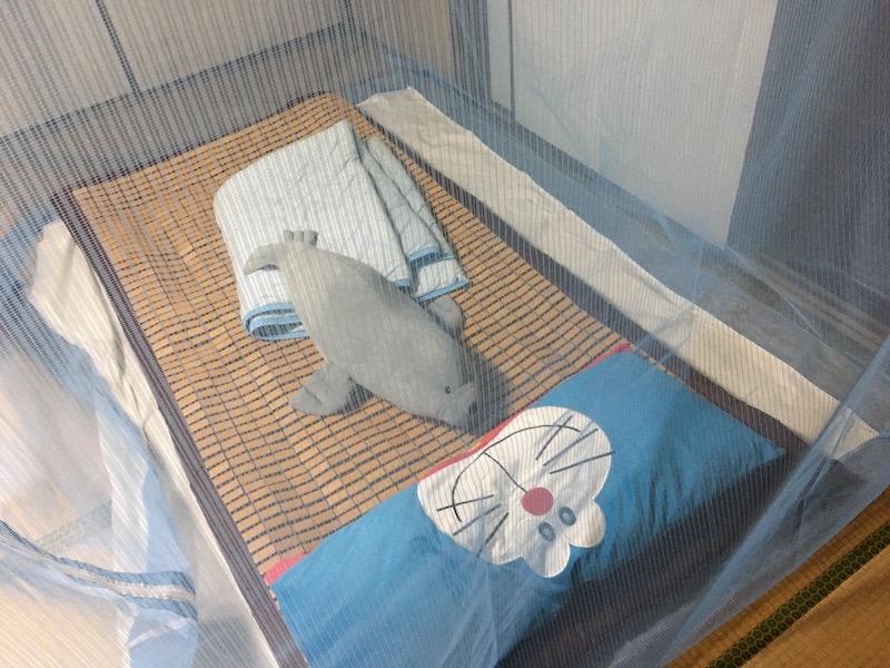 ムカデ対策に日本製の蚊帳